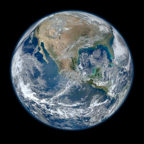زیباترین تصویر ماهواره ای از کره زمین
