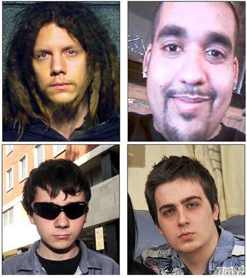 اعضای بازداشت شده گروه LulzSec