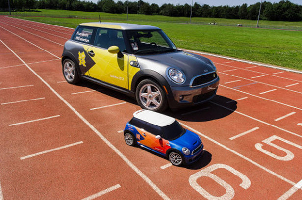 model mini coopers at the olympics 3