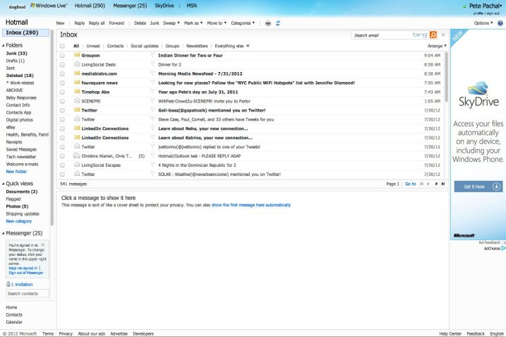 The Old Hotmail