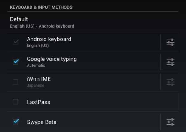 android keyboards and input methods