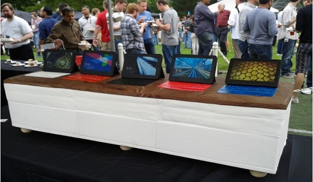 Microsoft bakes giant Surface cake for Windows 8 party