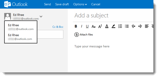 Use Outlook alias